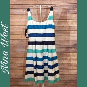 {Nine West} striped dress